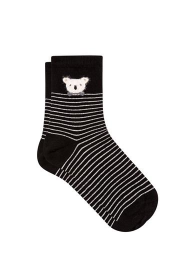 Mavi  Soket Çorap Siyah